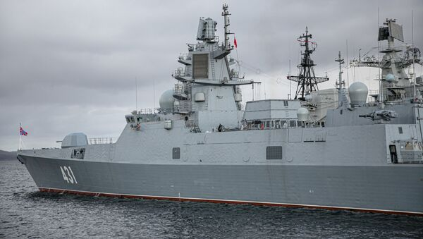 "Fregata projektu 22350 ""Admirał Kasatonow"". - Sputnik Polska"