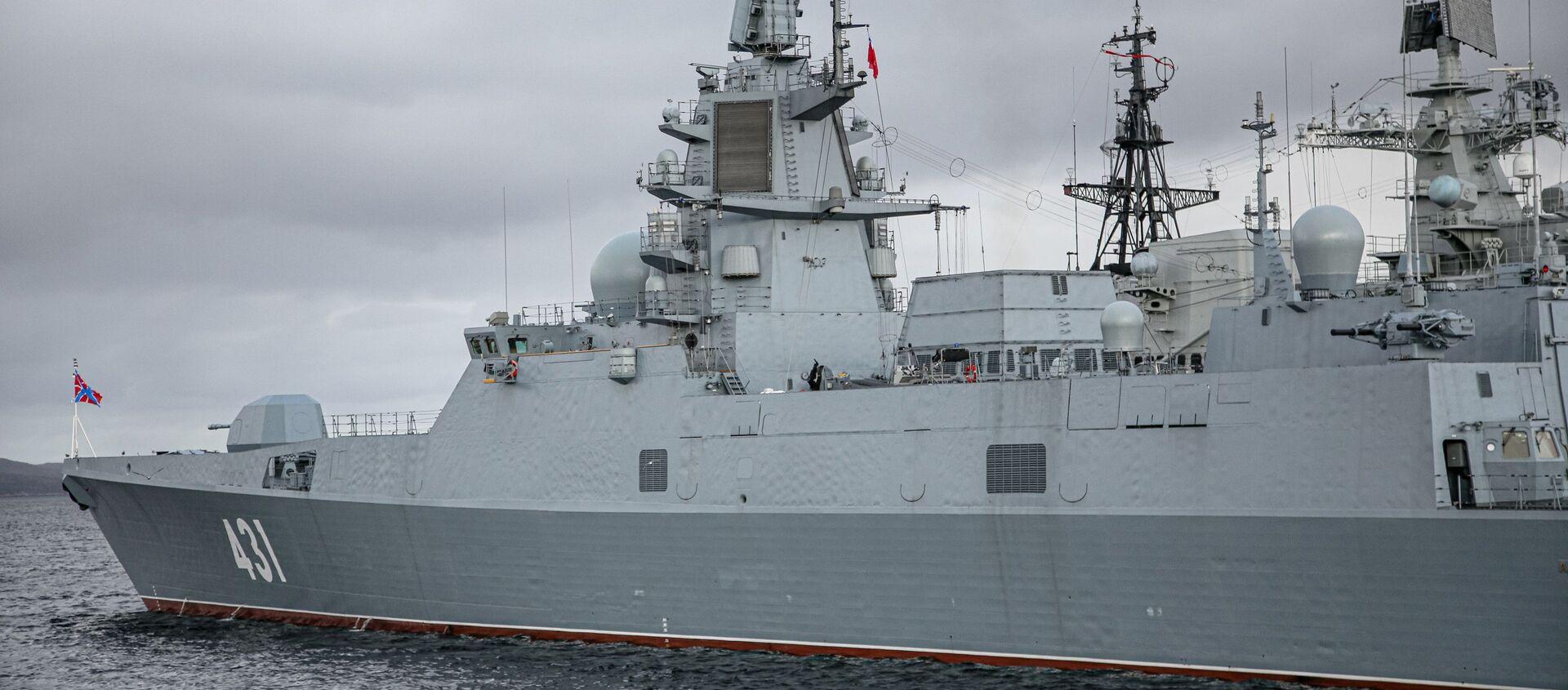 "Fregata projektu 22350 ""Admirał Kasatonow"". - Sputnik Polska, 1920, 01.04.2021"