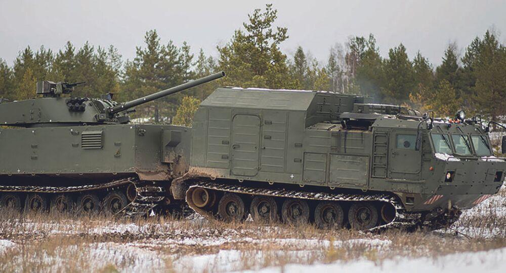 """Rosyjski samobieżny system artyleryjski """"Magnolia"""""""