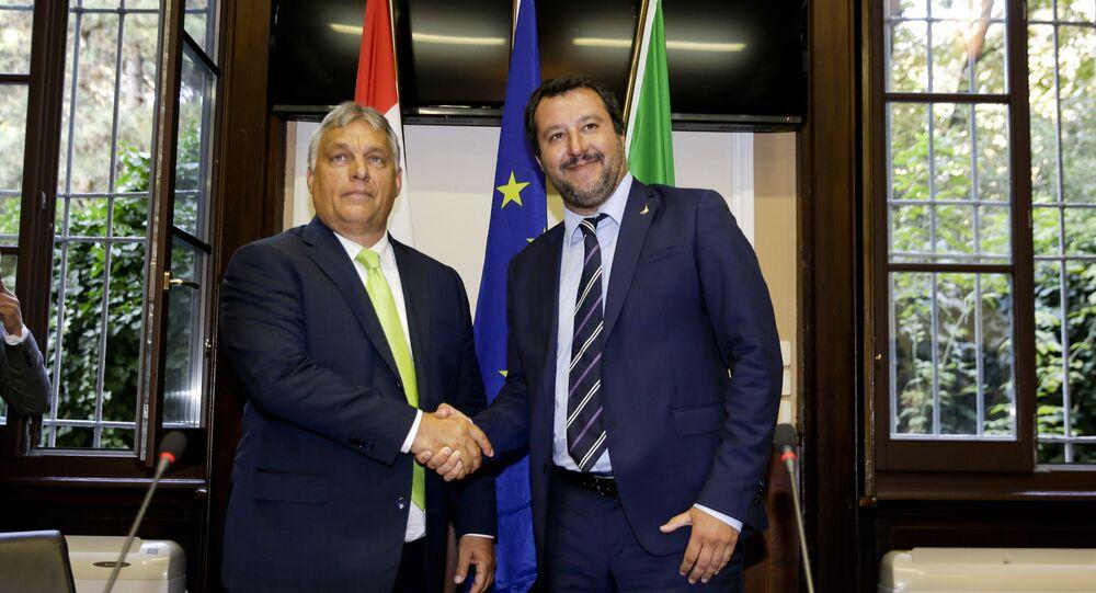 Viktor Orban i matteo Salvini