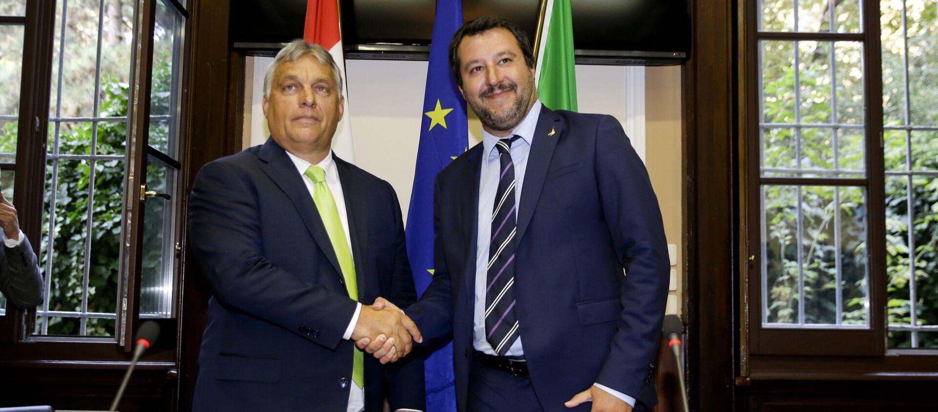 Viktor Orban i matteo Salvini - Sputnik Polska, 1920, 01.04.2021