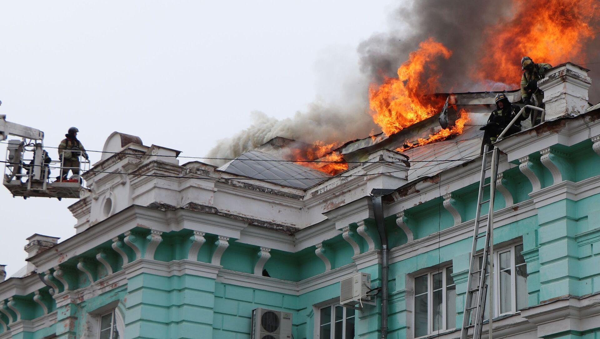Pożar w centrum kardiochirurgii w Błagowieszczeńsku - Sputnik Polska, 1920, 02.04.2021