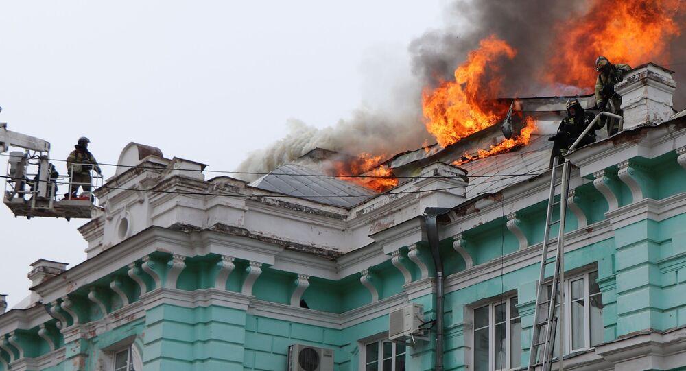Pożar w centrum kardiochirurgii w Błagowieszczeńsku