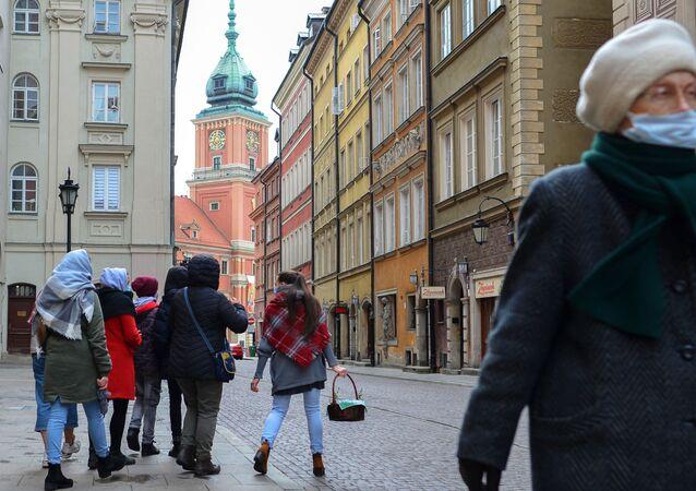 Przeddzień świąt wielkanocnych w Warszawie