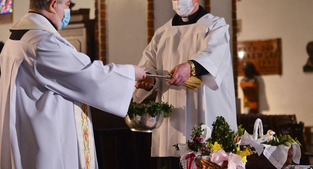 Święcenie pokarmów wielkanocnych w Warszawie