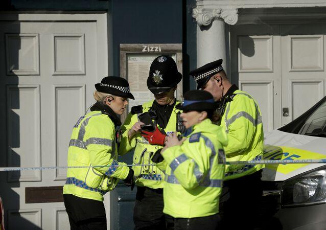 Brytyjska policja.