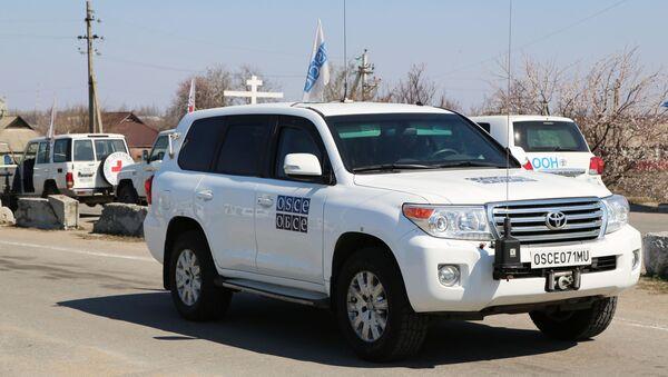 Samochody ONZ i OBWE w Doniecku - Sputnik Polska