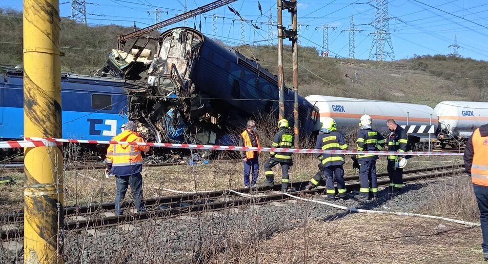 Zderzenie pociągów w Czechach
