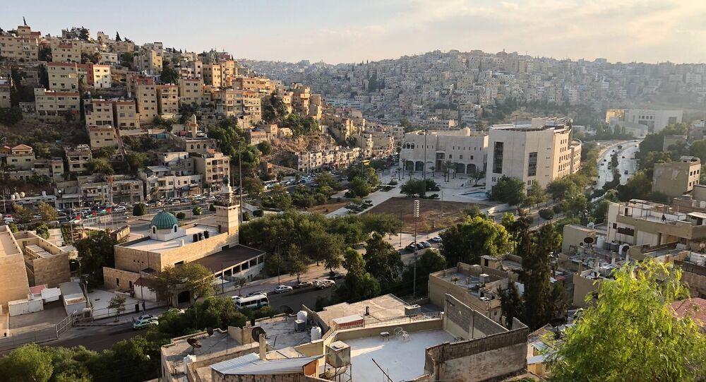 Widok na stolicę Jordanii, Amman