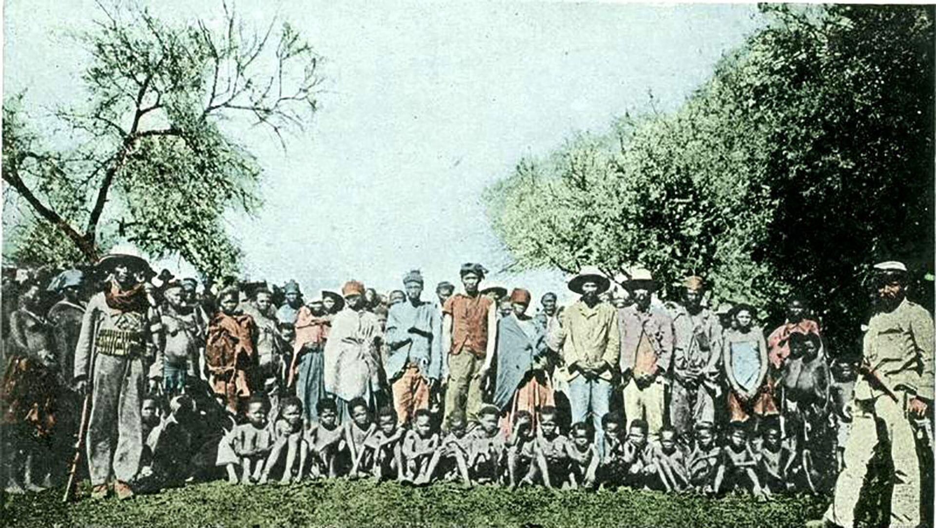 Plemię Herero, ok 1900 roku - Sputnik Polska, 1920, 05.04.2021