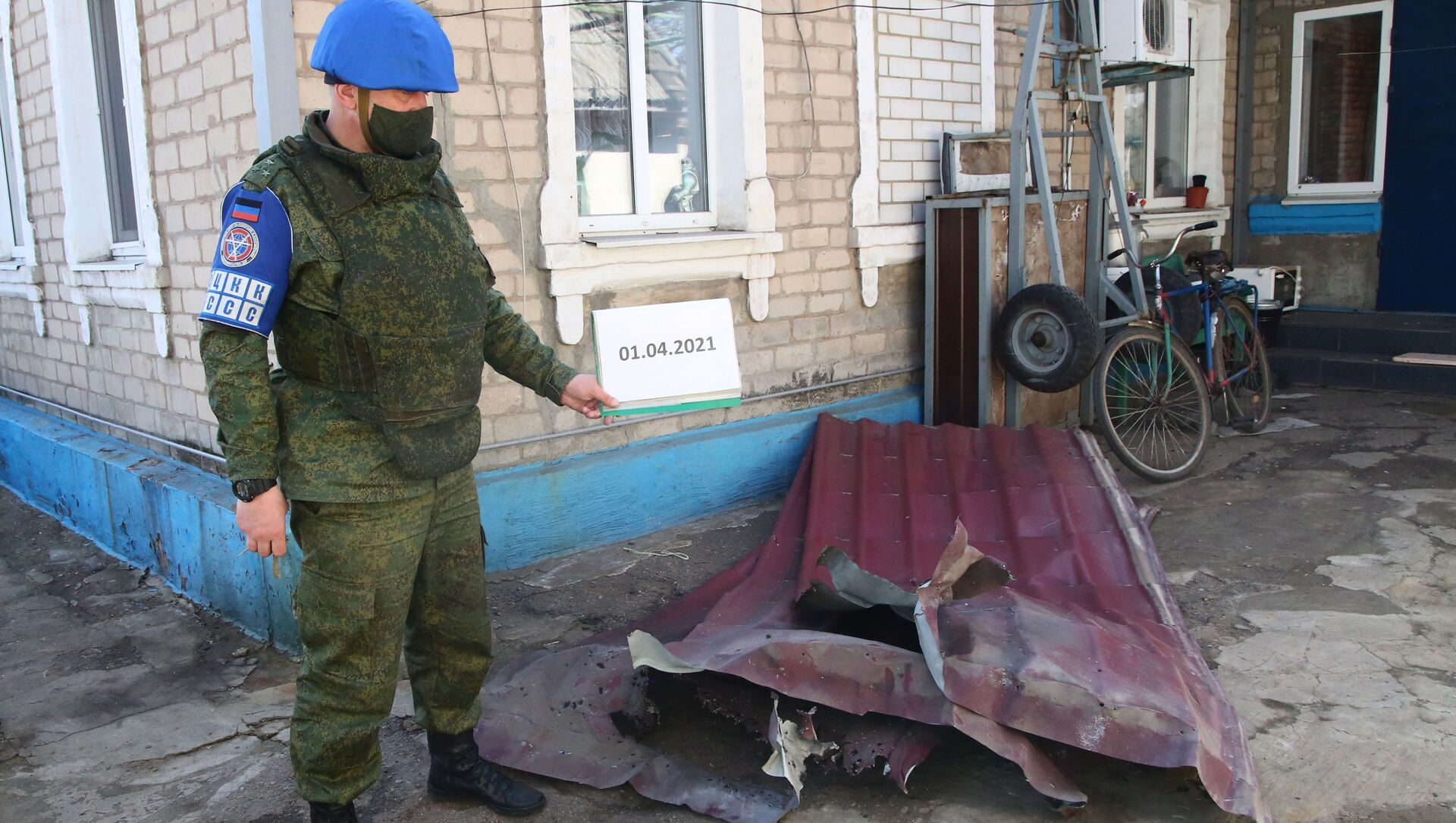 Przedstawiciel DRL odnotowuje szkody w wyniku ostrzału we wsi Aleksandrowka w obwodzie donieckim - Sputnik Polska, 1920, 06.04.2021