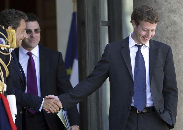 Twórca serwisu społecznościowego Facebook Mark Zuckerberg - Sputnik Polska