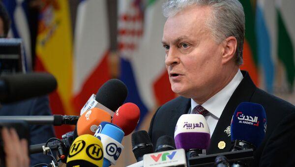 Prezydent Litwy Gitanas Nauseda - Sputnik Polska