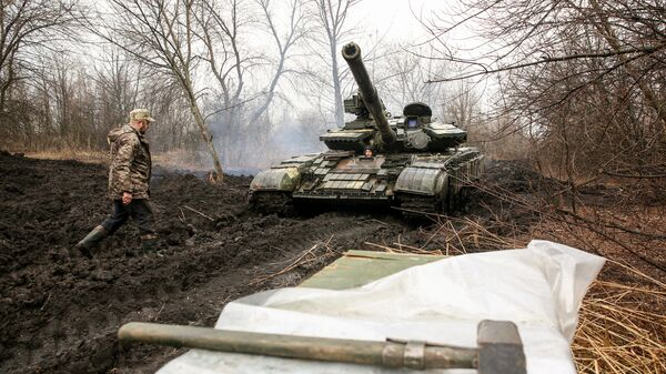 Ukraińscy żołnierze, obwód ługański - Sputnik Polska