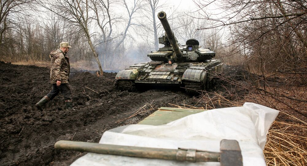 Ukraińscy żołnierze, obwód ługański