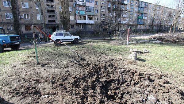 Wybuch w okolicach Doniecka - Sputnik Polska