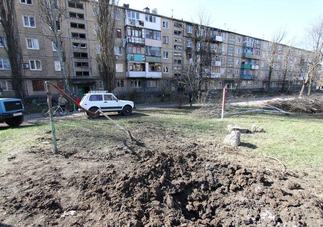 Wybuch w okolicach Doniecka