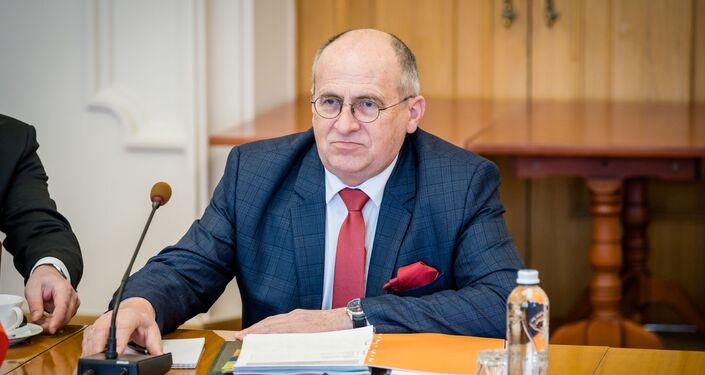 Zbigniew Rau w Kijowie, 8 kwietnia 2021 r.