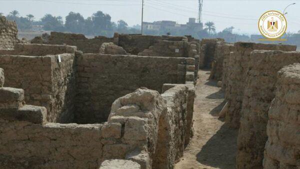 Wykopaliska archeologiczne w okolicach Luksoru, Egipt. - Sputnik Polska
