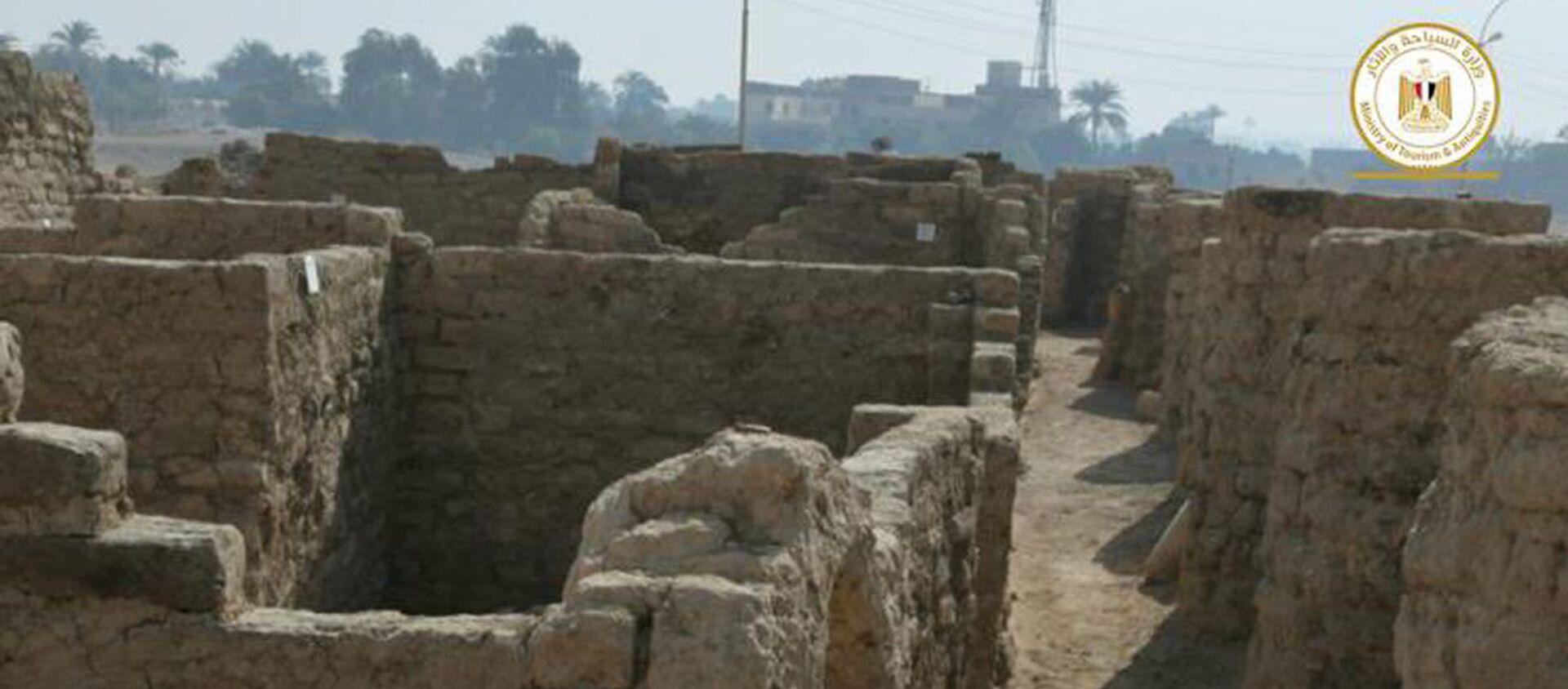 Wykopaliska archeologiczne w okolicach Luksoru, Egipt. - Sputnik Polska, 1920, 09.04.2021