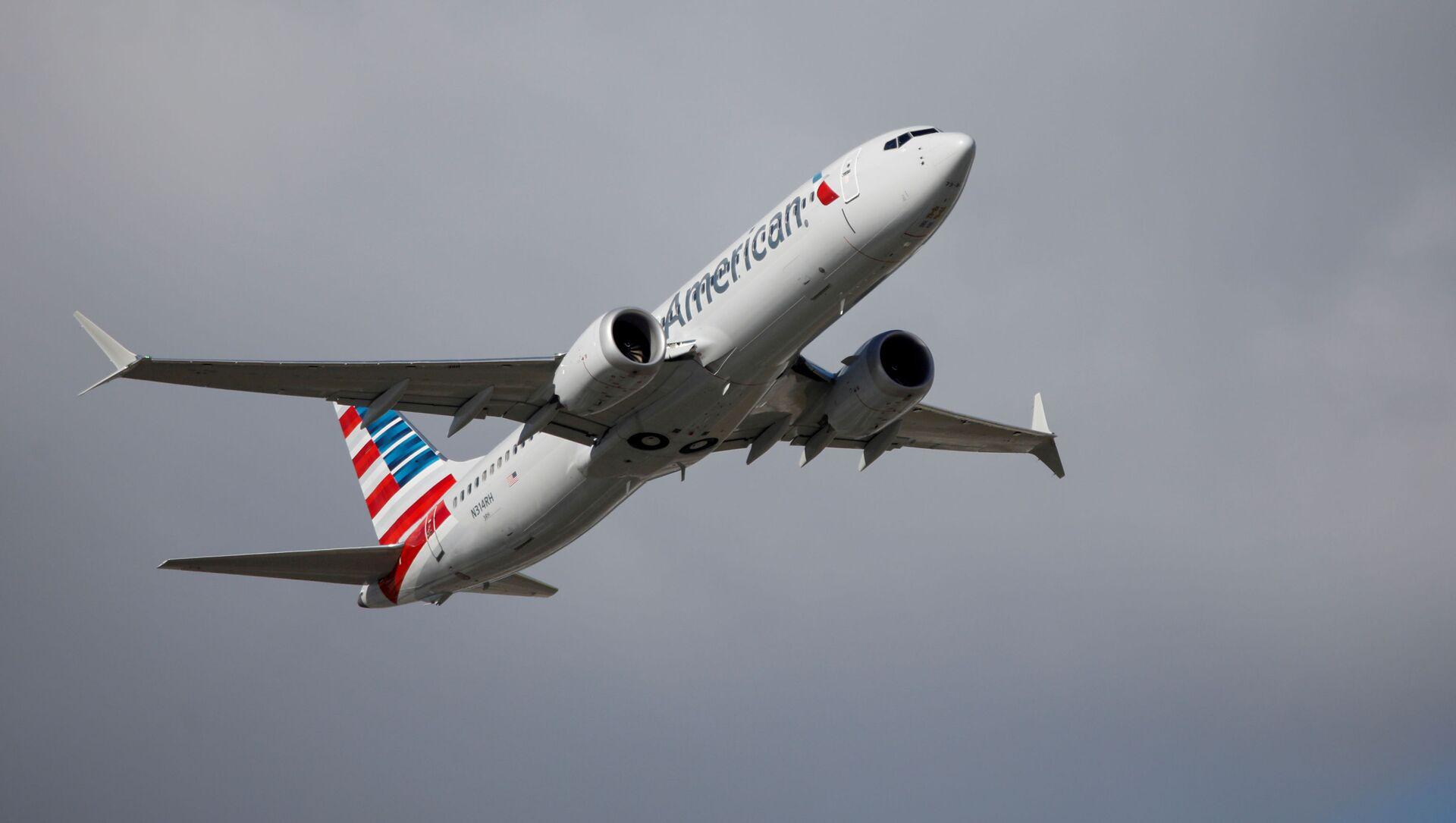 Samolot Boeing 737 MAX linii lotniczych American Airlines. - Sputnik Polska, 1920, 09.04.2021