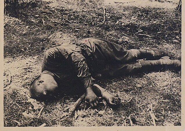 Zdjęcie archiwalne z czasów II wojny światowej.