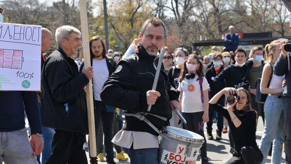 Protesty w Belgradzie - Sputnik Polska
