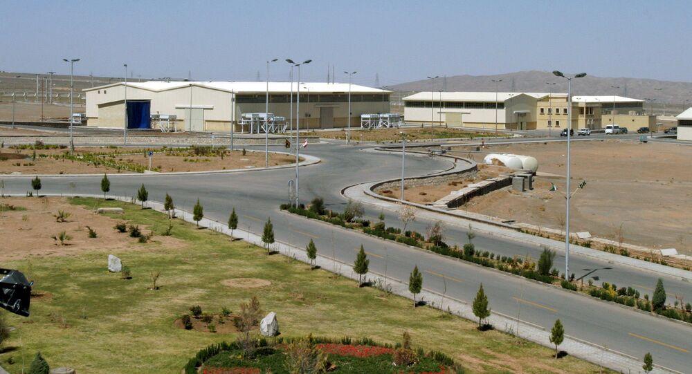 Widok na obiekty jądrowe w Natanz w Iranie