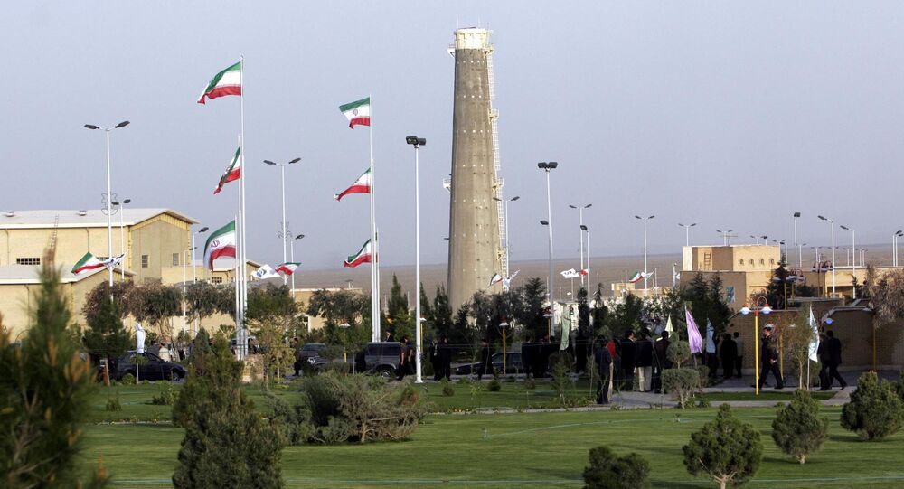 Widok na obiekty jądrowe w Natanz w Iranie.