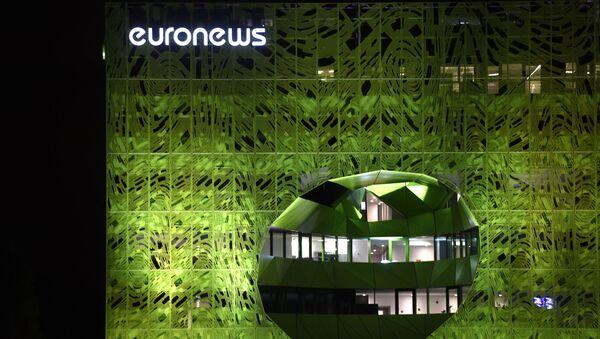 Budynek biura kanału telewizyjnego Euronews w Lyonie, Francja - Sputnik Polska