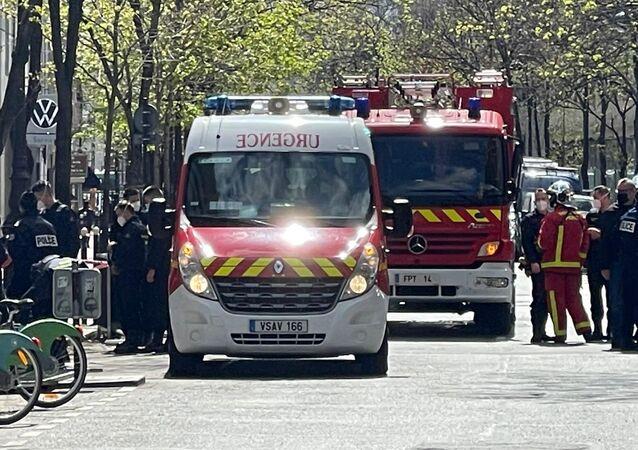 Strzelanina niedaleko szpitala Henry Dunant w Paryżu.
