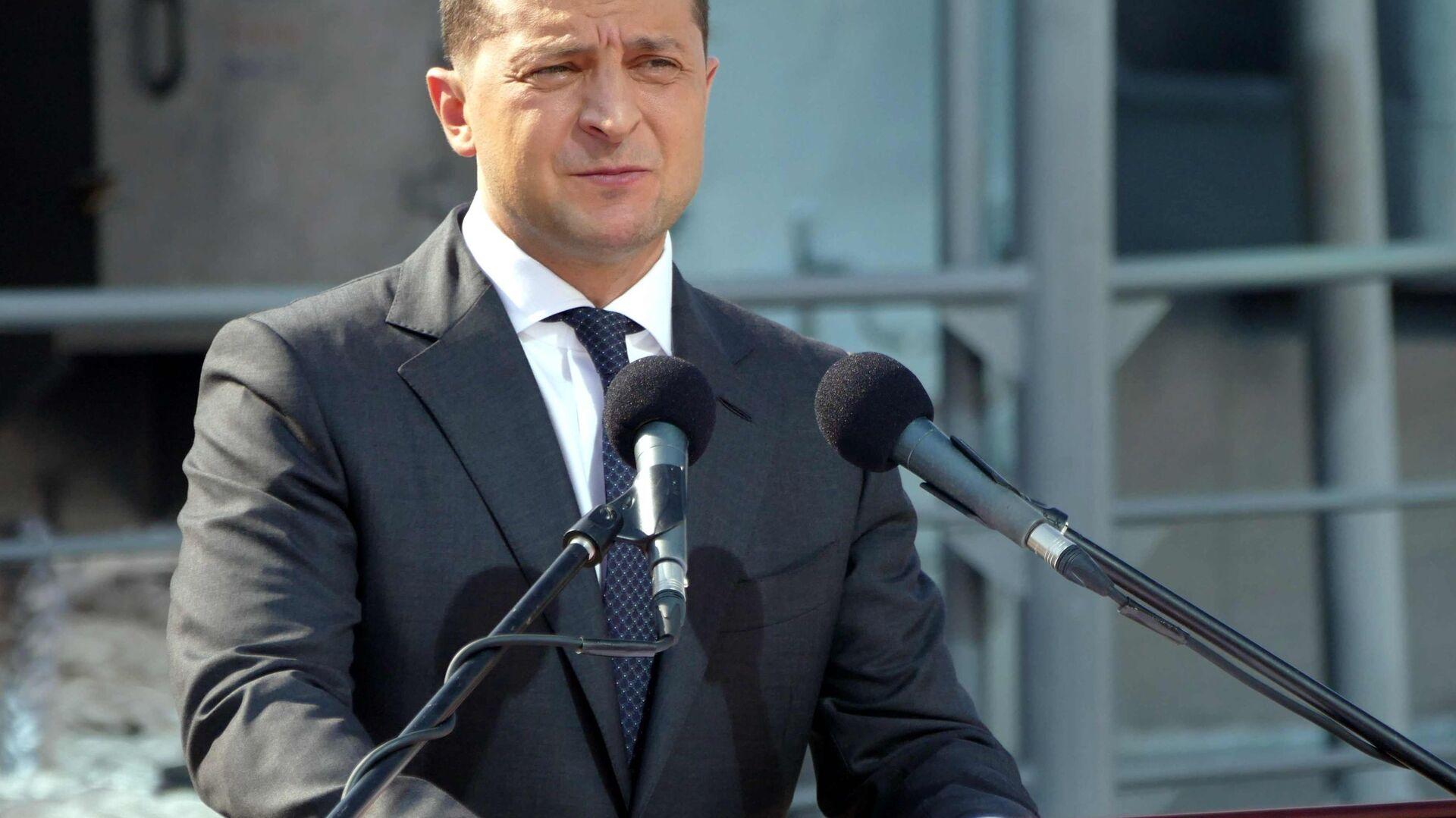 Prezydent Ukrainy Wołodymyr Zełenski - Sputnik Polska, 1920, 15.04.2021