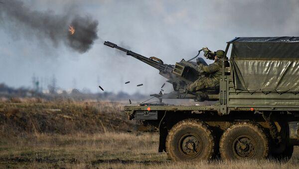 Żołnierze biorą udział w ćwiczeniach Opuk, Krym - Sputnik Polska