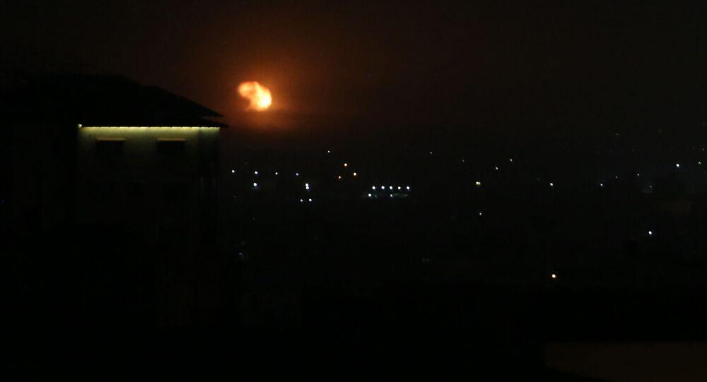 Izraelski nalot na południe od Strefy Gazy