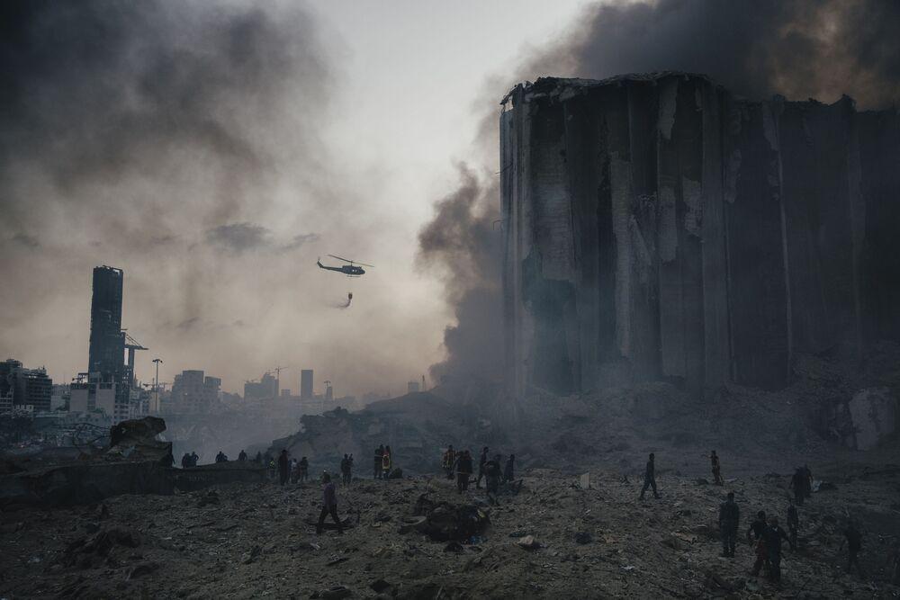 Spot news - zdjęcia pojedyncze – Lorenzo Tugnoli, wybuch saletry w Bejrucie