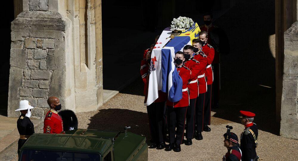 Trumna z ciałem księcia Filipa