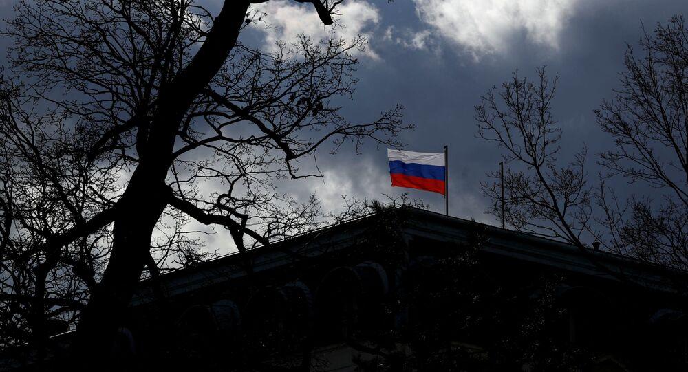 Siedziba Ambasady Rosji w Pradze.
