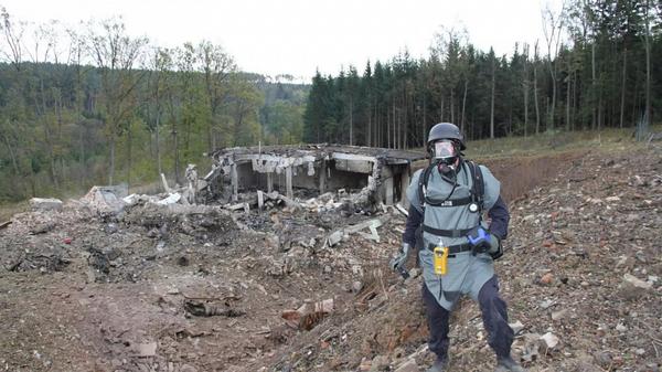 Wybuch na składzie amunicji we Vrbeticy, Czechy - Sputnik Polska