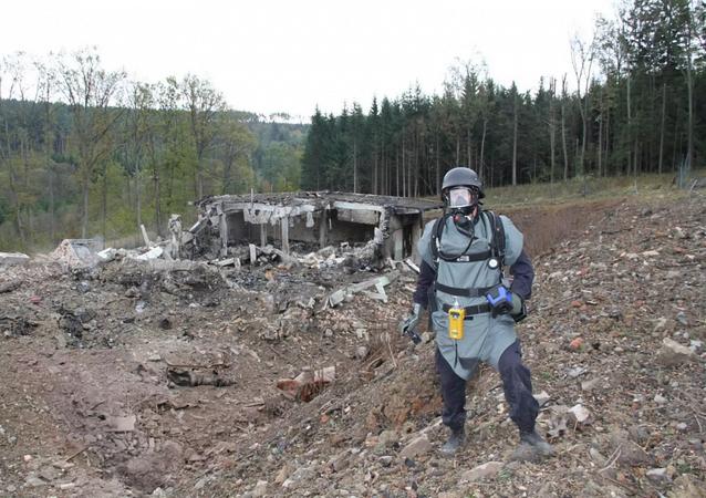 Wybuch na składzie amunicji we Vrbeticy, Czechy.