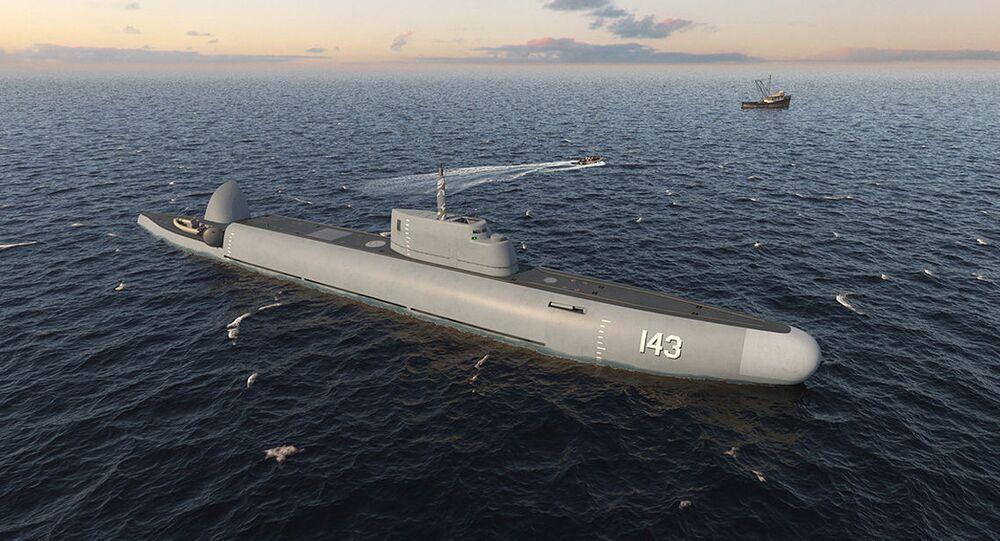 """Nurkujący okręt patrolowy """"Strazh"""" //Photo// CDB ME """"RUBIN"""