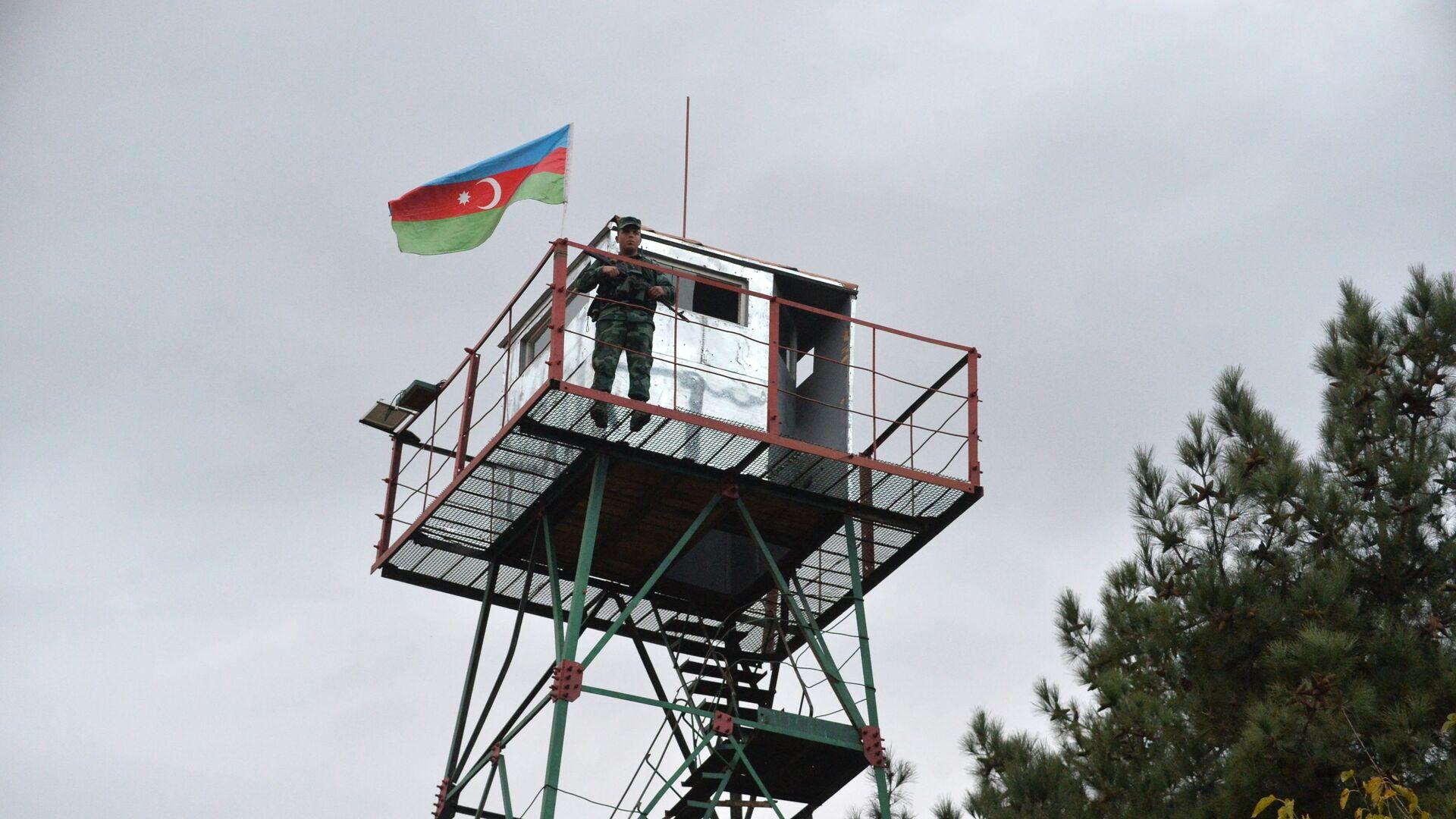 Azerbejdżańscy strażnicy graniczni na granicy z Iranem - Sputnik Polska, 1920, 19.04.2021