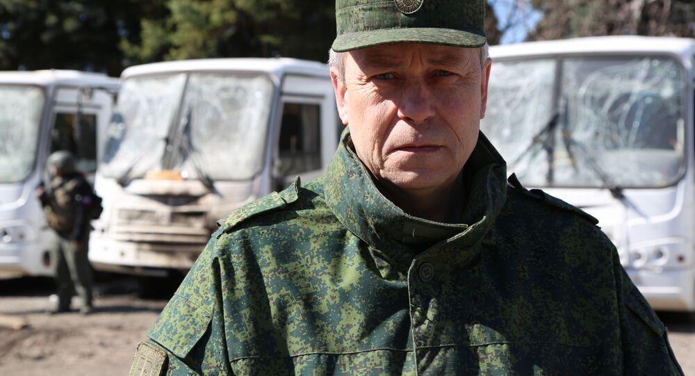 Zastępca szefa wydziału Milicji Ludowej DRL Eduard Basurin