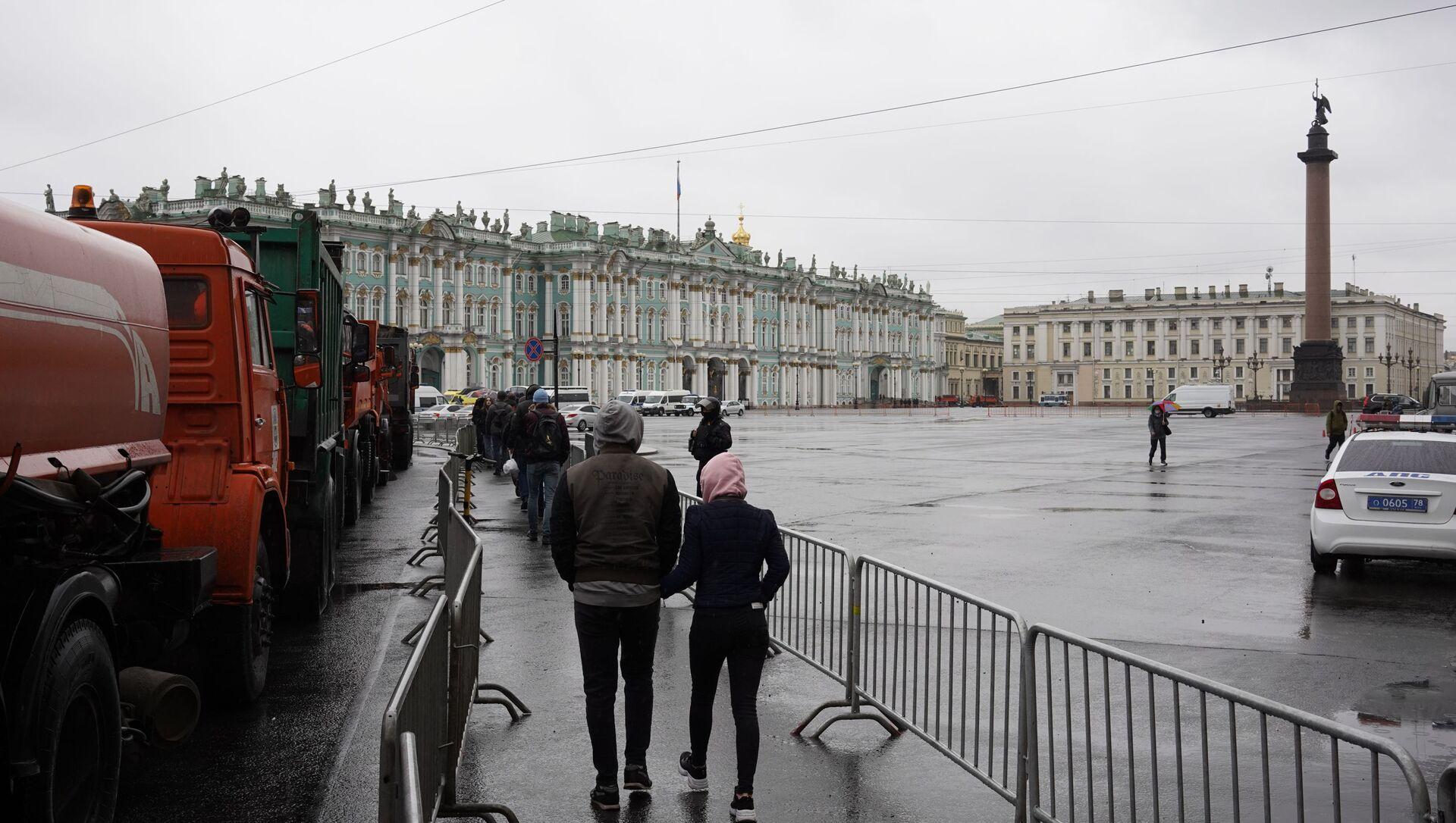 Nielegalne akcje protestacyjne w Petersburgu, 21.04.2021 - Sputnik Polska, 1920, 21.04.2021