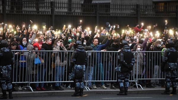 Protesty w Moskwie, 21.04.2021  - Sputnik Polska