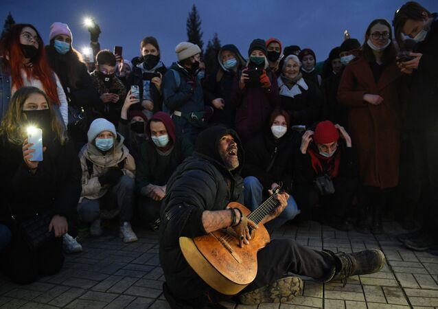 Protesty w Nowosybirsku, 21.04.2021