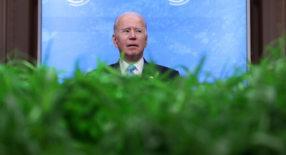 Joe Biden podczas wirtualnego szczytu klimatycznego