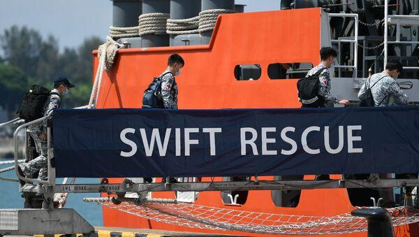Misja ratunkowa w poszukiwaniu okrętu podwodnego KRI Nanggala-402, Singapur, 21 kwietnia, 2021 - Sputnik Polska