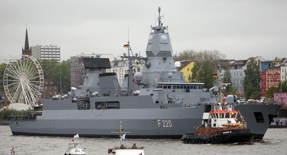 """Niemiecka fregata """"Hamburg"""""""