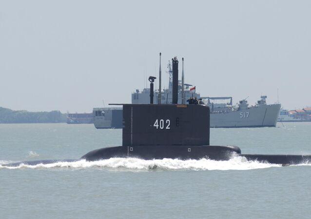Okręt podwodny indonezyjskiej marynarki wojennej KRI Nanggala 402.