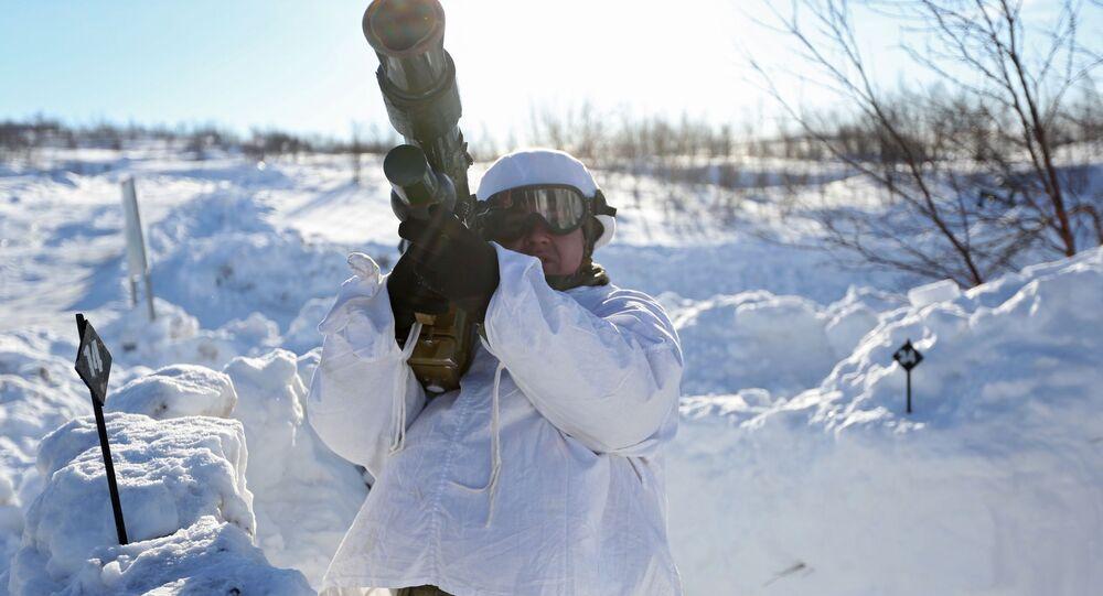Ćwiczenia Floty Północnej w Arktyce.